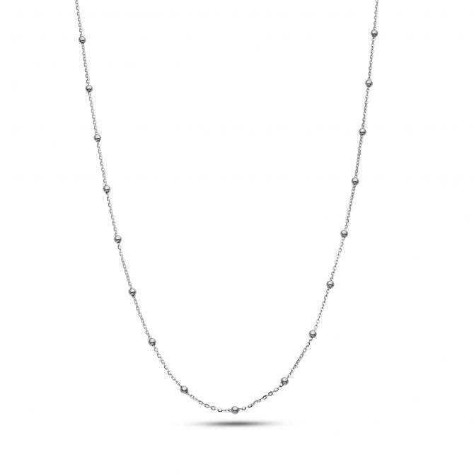 Chain With Little Silver Beads Necklace
