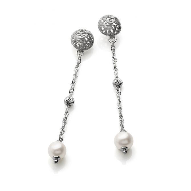 Freshwater pearls drop earrings