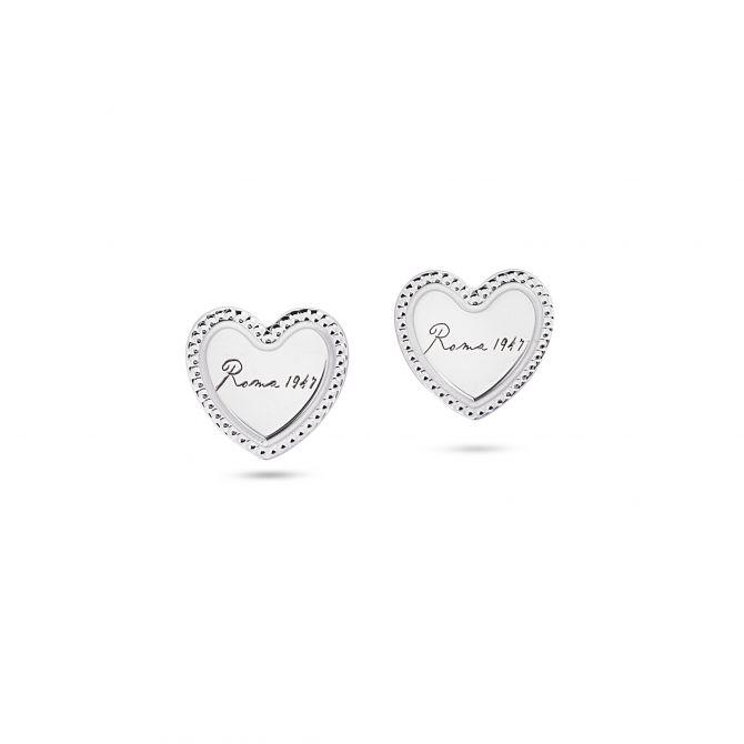 Small heart-shaped stud earrings