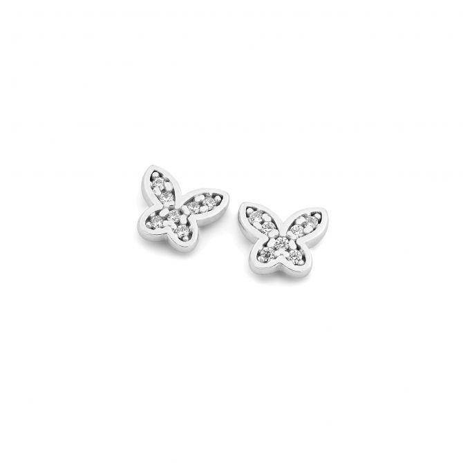 Pave' butterfly earrings