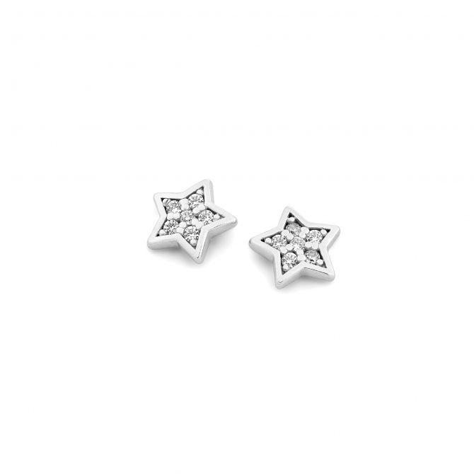 Pave' star earrings