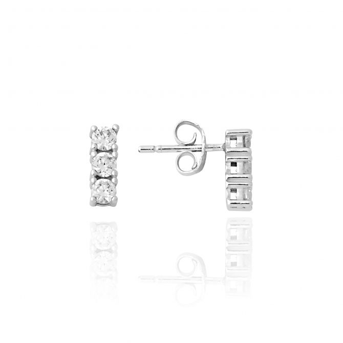 Stud earrings with stones