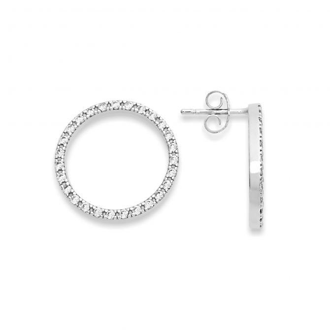 Circle-shaped earrings