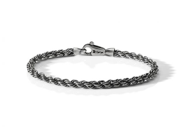 Brusched and polished rope bracelet