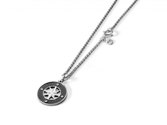 Necklace with wind rose