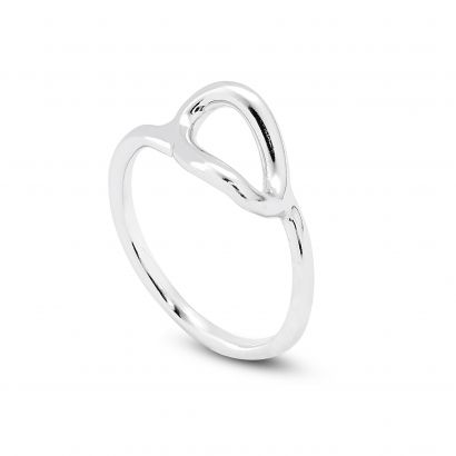 STERLING SILVER RING WITH SMALL EMPTY LINK
