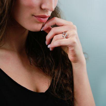 STERLING SILVER RING - MEDIUM EMPTY LINK