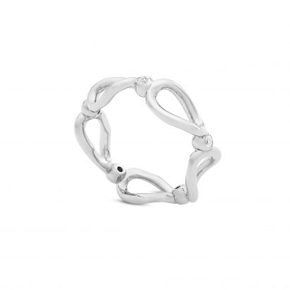 STERLING SILVER ETERNITY RING WITH CZ